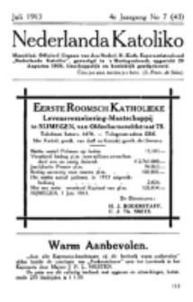 Nederlanda Katoliko. Jg. 4, no. 7 (Juli 1913)