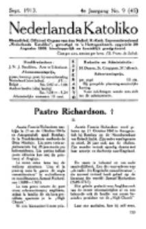 Nederlanda Katoliko. Jg. 4, no. 9 (Sept. 1913)