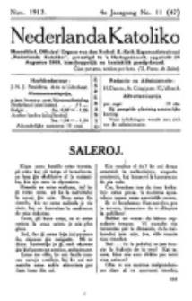 Nederlanda Katoliko. Jg. 4, no. 11 (Nov. 1913)