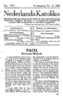 Nederlanda Katoliko. Jg. 4, no. 12 (Dec. 1913)