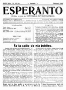 Esperanto : revuo internacia : oficiala organo de Universala Esperanto Asocio. Jaro 23, no 2=318 (Februaro 1927)