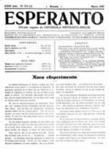 Esperanto : revuo internacia : oficiala organo de Universala Esperanto Asocio. Jaro 23, no 3=319 (Marto 1927)