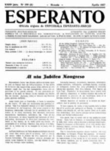 Esperanto : revuo internacia : oficiala organo de Universala Esperanto Asocio. Jaro 23, no 4=320 (Aprilo 1927)