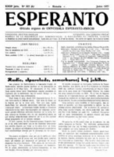 Esperanto : revuo internacia : oficiala organo de Universala Esperanto Asocio. Jaro 23, no 6=322 (Junio 1927)