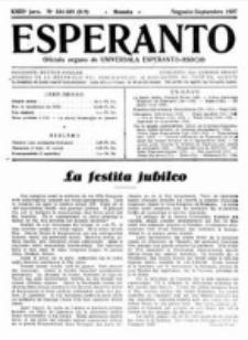 Esperanto : revuo internacia : oficiala organo de Universala Esperanto Asocio. Jaro 23, no 8/9=324=325 (Aŭgusto-Septembro 1927)