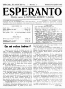 Esperanto : revuo internacia : oficiala organo de Universala Esperanto Asocio. Jaro 23, no 10/11=326/327 (Oktobro/Novembro 1927)