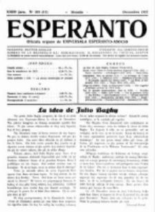 Esperanto : revuo internacia : oficiala organo de Universala Esperanto Asocio. Jaro 23, no 12=328 (Decembro 1927)