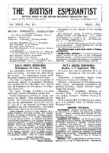 The British Esperantist : the official organ of the British Esperanto Association. Vol. 26, no 301 (May 1930)