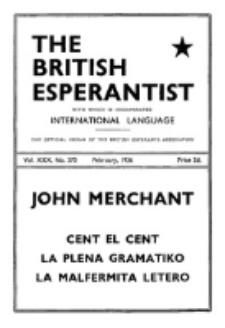 The British Esperantist : the official organ of the British Esperanto Association. Vol. 30, no 370 (February 1936)