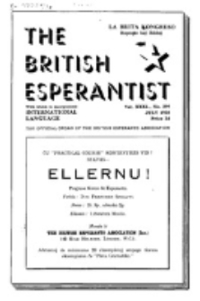 The British Esperantist : the official organ of the British Esperanto Association. Vol. 31, no 399 (July 1938)