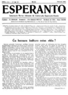 Esperanto : revuo internacia : oficiala organo de Universala Esperanto Asocio. Jaro 27, no 2=366 (Februaro 1931)