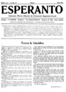 Esperanto : revuo internacia : oficiala organo de Universala Esperanto Asocio. Jaro 27, no 5=369 (Majo 1931)