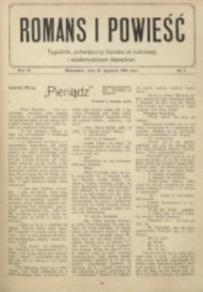 Świat : pismo tygodniowe ilustrowane poświęcone życiu społecznemu, literaturze i sztuce. R. 9 (1914)Romans i Powieśc. R. 6, nr 4 (24 stycznia 1914)