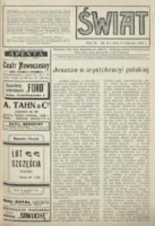 Świat : pismo tygodniowe ilustrowane poświęcone życiu społecznemu, literaturze i sztuce. R. 9 (1914), nr 3 (17 stycznia)
