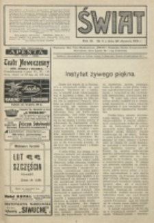 Świat : pismo tygodniowe ilustrowane poświęcone życiu społecznemu, literaturze i sztuce. R. 9 (1914), nr 4 (24 stycznia)