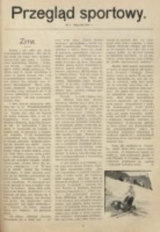 Przegląd Sportowy. Nr 1 (Styczeń 1914)