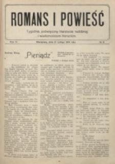 Romans i Powieść. R. 6, nr 8 (21 lutego 1914)