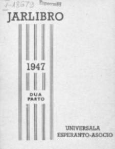 Oficiala Jarlibro. 1947 (Dua Parto)