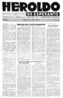 Heroldo de Esperanto : neŭtrale organo la Esperanto-modavo. Jarkolekto 23 (1947), nr 5=1064 (1 marto)