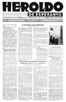 Heroldo de Esperanto : neŭtrale organo la Esperanto-modavo. Jarkolekto 23 (1947), nr 9=1068 (1 majo)