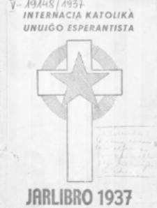 Jarlibro de la Internacia Katolika Unuiĝo Esperantista. 1937