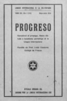 Progreso : oficala organo dil Uniono por la apliko e propago de la Linguo Internaciona (Ido). Tomo 13, nro. 3=111 (Mayo-Junio 1936)