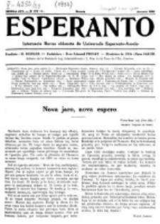 Esperanto : revuo internacia : oficiala organo de Universala Esperanto Asocio. Jaro 28, No 1=377 (Januaro 1932)