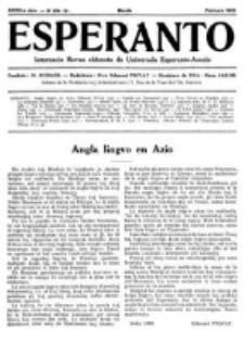 Esperanto : revuo internacia : oficiala organo de Universala Esperanto Asocio. Jaro 28, no 2=378 (Februaro 1932)