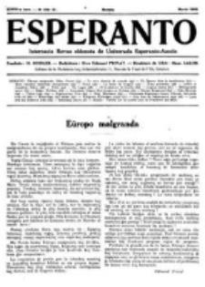 Esperanto : revuo internacia : oficiala organo de Universala Esperanto Asocio. Jaro 28, no 3=379 (Marto 1932)