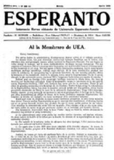 Esperanto : revuo internacia : oficiala organo de Universala Esperanto Asocio. Jaro 28, no 4=380 (Aprilo 1932)