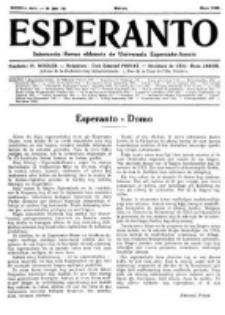 Esperanto : revuo internacia : oficiala organo de Universala Esperanto Asocio. Jaro 28, No 5=381 (Majo 1932)