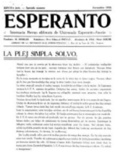 Esperanto : revuo internacia : oficiala organo de Universala Esperanto Asocio. Jaro 28, Speciala numero (Novembro 1932)