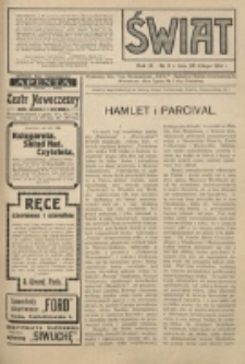 Świat : pismo tygodniowe ilustrowane poświęcone życiu społecznemu, literaturze i sztuce. R. 9 (1914), nr 9 (28 lutego)