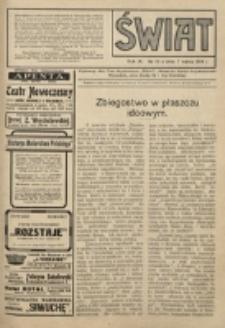 Świat : pismo tygodniowe ilustrowane poświęcone życiu społecznemu, literaturze i sztuce. R. 9 (1914), nr 10 (7 marca)