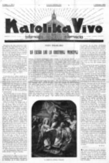 Katolika Vivo : informiga gazeto internacia. 1 Jaro (1931), no 3 (1 Februaro)