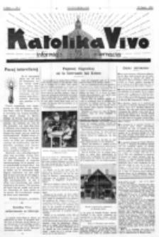 Katolika Vivo : informiga gazeto internacia. 1 Jaro (1931), no 7 (29 Marto)