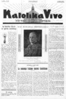 Katolika Vivo : informiga gazeto internacia. 1 Jaro (1931), no 13 (21 Junio)