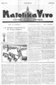 Katolika Vivo : informiga gazeto internacia. 1 Jaro (1931), no 15 (19 Julio)