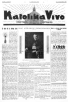Katolika Vivo : informiga gazeto internacia. 1 Jaro (1931), no 18/19 (13-27 Septembro)
