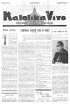 Katolika Vivo : informiga gazeto internacia. 1 Jaro (1931), no 21 (25 Oktobro)