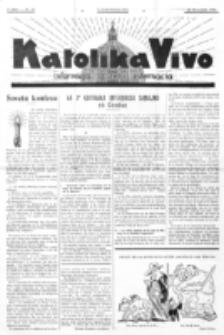 Katolika Vivo : informiga gazeto internacia. 1 Jaro (1931), no 23 (22 Novembro)