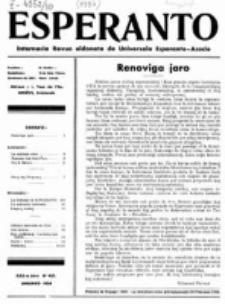 Esperanto : revuo internacia : oficiala organo de Universala Esperanto Asocio. Jaro 30, no 1=401 (Januaro 1934)