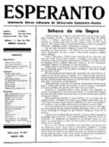 Esperanto : revuo internacia : oficiala organo de Universala Esperanto Asocio. Jaro 30, no 3=403 (Marto1934)