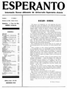 Esperanto : revuo internacia : oficiala organo de Universala Esperanto Asocio. Jaro 30, no 12=412 (Decembro 1934)