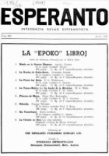 Esperanto : revuo internacia : oficiala organo de Universala Esperanto Asocio. Jaro 40, no 500 (Junio 1947)