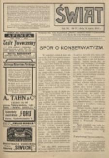 Świat : pismo tygodniowe ilustrowane poświęcone życiu społecznemu, literaturze i sztuce. R. 9 (1914)