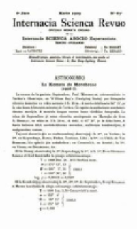 Internacia Scienca Revuo : monata organo en Esperanto. Jaro 6, no. 63 (1909)
