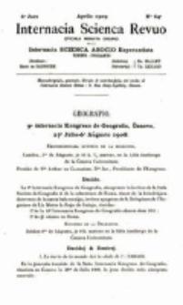 Internacia Scienca Revuo : monata organo en Esperanto. Jaro 6, no. 64 (1909)