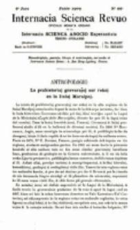 Internacia Scienca Revuo : monata organo en Esperanto. Jaro 6, no. 66 (1909)