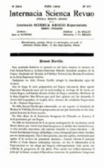 Internacia Scienca Revuo : monata organo en Esperanto. Jaro 6, no. 67 (1909)